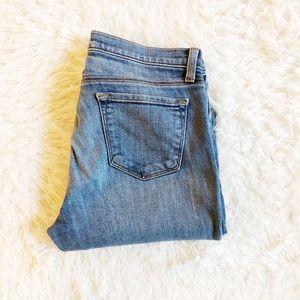 J Brand Super skinny jeans distressed cut-off 27